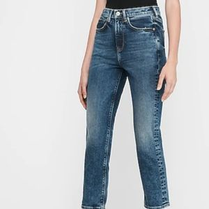Express super high rise mom jeans size 6